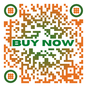 Custom QR code with call to action buy now